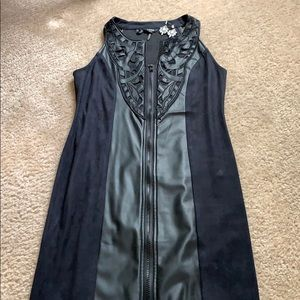Leather and suede dress perfect for fall!